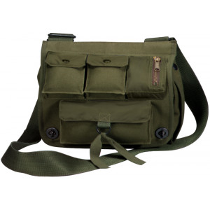 Olive Drab Military Canvas Venturer Survivor Shoulder Bag