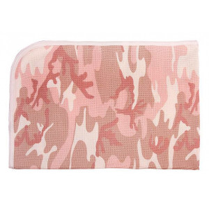 Baby Pink Camouflage Infant Receiving Blanket