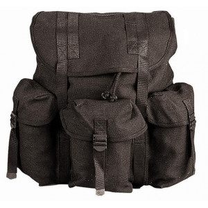 Black Military Heavy Weight Canvas Mini Alice Pack
