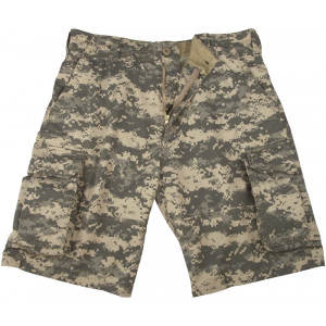 ACU Digital Camouflage Vintage Military Paratrooper Cargo Shorts