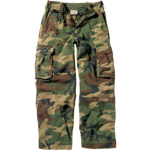 Woodland Camouflage Kids Military Vintage Paratrooper Fatigues