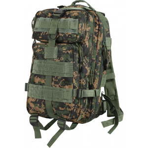 Digital Woodland Camouflage Military MOLLE Medium Transport Assault Pack Backpack