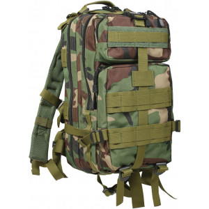Woodland Camouflage Military MOLLE Medium Transport Assault Pack Backpack