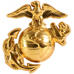 Gold USMC Insignia Pin