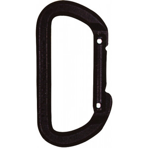 Black High Strength Climbing D Carabiner