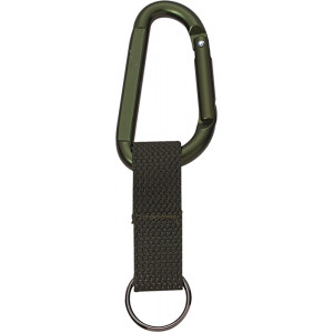 Olive Drab Jumbo 80MM Carabiner With Web Strap Key Ring