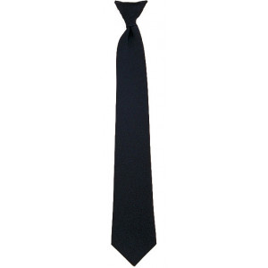 Black Official Police/Security Clip-On Necktie
