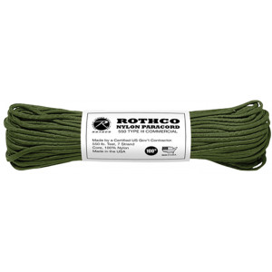 Olive Drab 550LB Type III Nylon Paracord Rope 100'