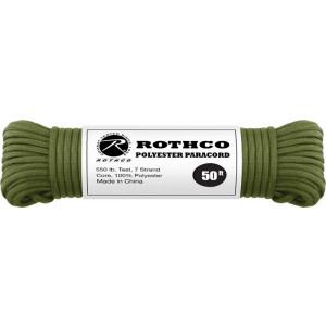 Olive Drab 550LB 7 Strand Polyester Paracord Rope 50 Feet