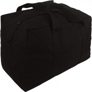 Black Military Parachute Cargo Bag