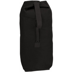 "Black Extra Large Top Load Heavyweight Canvas Duffle Bag 25"" x 42"""