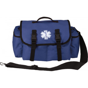 Blue EMS EMT Medical Rescue Response Shoulder Bag