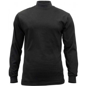 Black Cotton Law Enforcement Mock Turtleneck