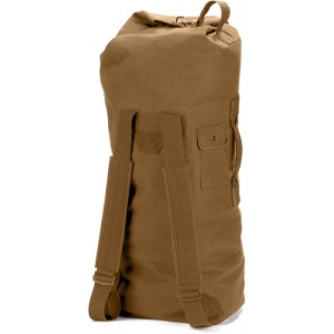 Coyote Brown Military Double Strap Tactical Duffle Bag