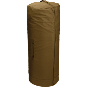 "Coyote Brown Side Zipper Canvas Duffle Bag (25"" x 42"")"