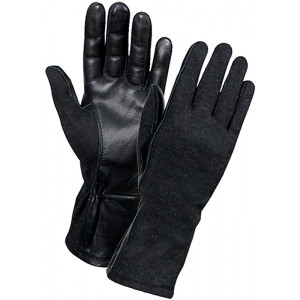 Black Military Flame Resistant Flight Gloves
