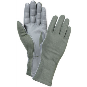 Olive Drab Military Flame Resistant Flight Gloves