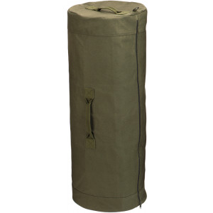 "Olive Drab Side Zipper Canvas Duffle Bag (25"" x 42"")"