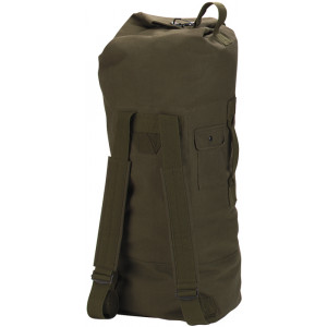 "Olive Drab Double Strap Canvas Duffle Bag Backpack (22"" x 38"")"