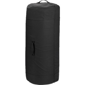 "Black Side Zipper Canvas Duffle Bag (30"" x 50"")"