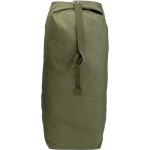 "Olive Drab Jumbo Top Load Heavyweight Canvas Duffle Bag 30"" x 50"""