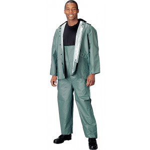 Olive Drab 2 Piece Tactical PVC Rain Suit
