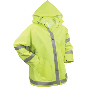 Safety Green Reflective Rain Jacket