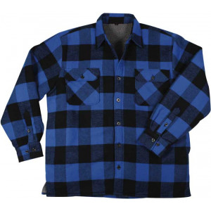 Blue Heavyweight Buffalo Plaid Sherpa Lined Brawny Shirt