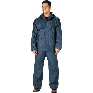 Navy Blue Microlite 2-Piece Lightweight Rain Suit