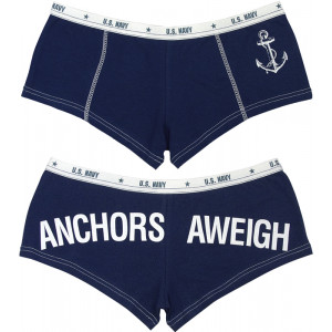 Navy Blue US NAVY ANCHORS AWEIGH Booty Shorts