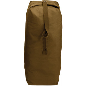 """Coyote Brown Extra Large Top Load Heavyweight Canvas Duffle Bag 25"""" x 42"""""""