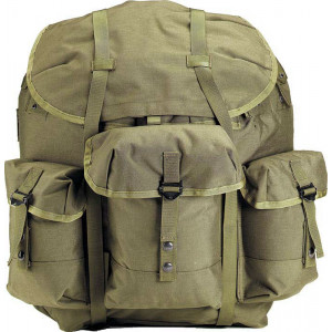 Olive Drab Military Enhanced Medium Alice Pack Backpack & Metal Frame