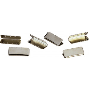 Chrome Military 100 Pieces Web Belt Tips