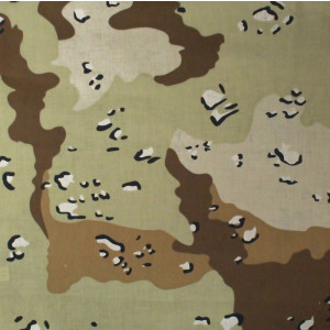 "Desert Camouflage Military 22"" x 22"" Cotton Bandana"