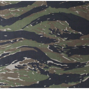 "Tiger Stripe Camouflage Military 22"" x 22"" Cotton Bandana"
