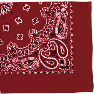 "Red Trainmen Cotton Paisley Sport 22"" x 22"" Bandana Biker Headwrap"