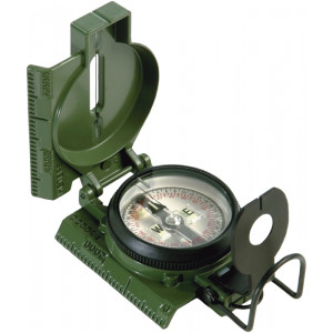 Olive Drab Official US Military Tritium Lensatic Compass