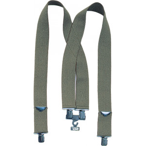 Olive Drab Military Heavy Duty Thick Pants Suspenders 2 Inches