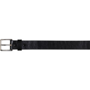 "Black Military 1.25"" Bonded Leather Tactical Garrison Belt"