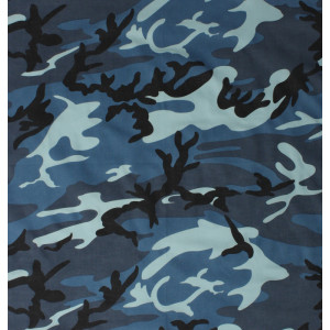 "Sky Blue Camouflage Military 27"" x 27"" Cotton Bandana"