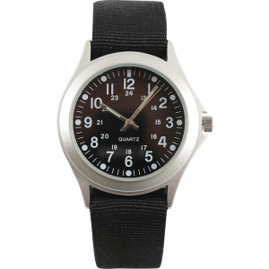 Black Military Style Quartz Watch