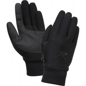 Black All Weather Lined Tactical Stretch Fabric Gloves