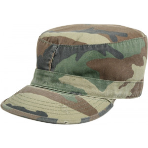 Woodland Camouflage Vintage Military Patrol Fatigue Cap