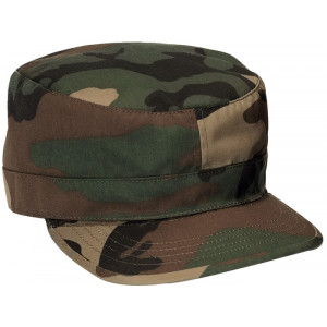 Woodland Camouflage Military Rip-Stop Patrol Fatigue Cap