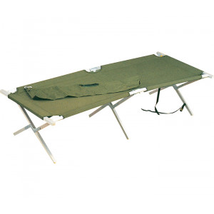 Olive Drab Heavy Duty Aluminum Portable Sleeping Cot & Carry Bag