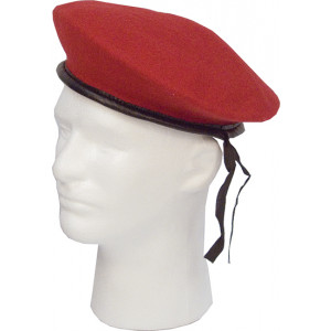 Red Military Wool Monty Beret Hat