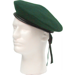 Green Military Wool Monty Beret Hat