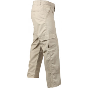Khaki Rip-Stop Duty Cargo Tactical Military Fatigue Pants