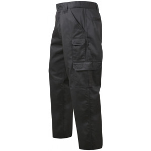 Black Military Rip-Stop Cargo Tactical Duty Fatigue Pants