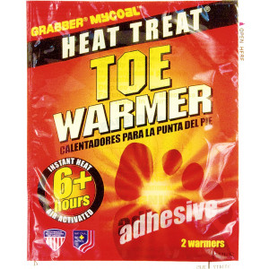 Grabber Instant Heat Air Activated 6 Hour Toe Warmers (2 Warmers)